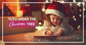Tutu under the christmas tree
