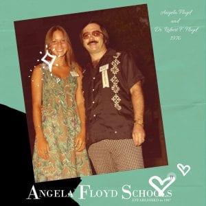 Angela Floyd and Dr. Robert F. Floyd 1976