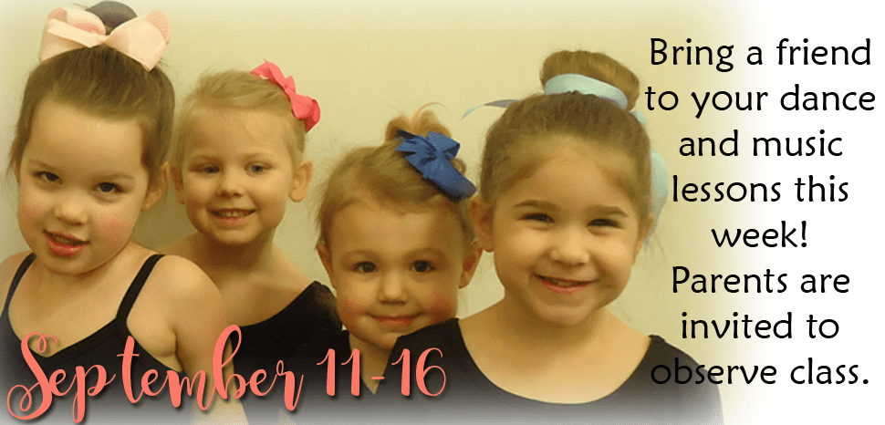 Bring A Friend to Dance and Music Class