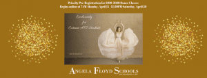 Pre-Registration for 2019-2020 Dance Classes Begins online at 7AM Monday, April 15 - 12_30PM Saturday, April 20