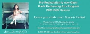 Pre-Registration Preschool Performing Arts Class