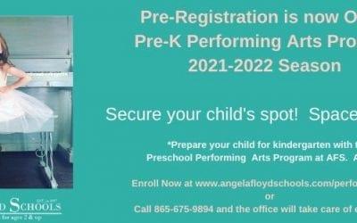 Pre-Registration for Preschool Performing Arts 2021-2022 is Now Open
