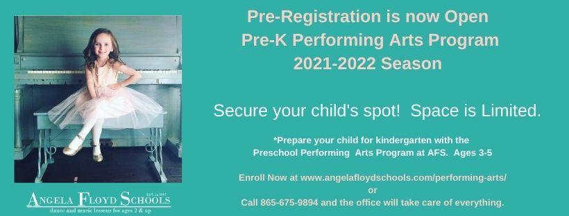 Pre-Registration Preschool Performing Arts Class