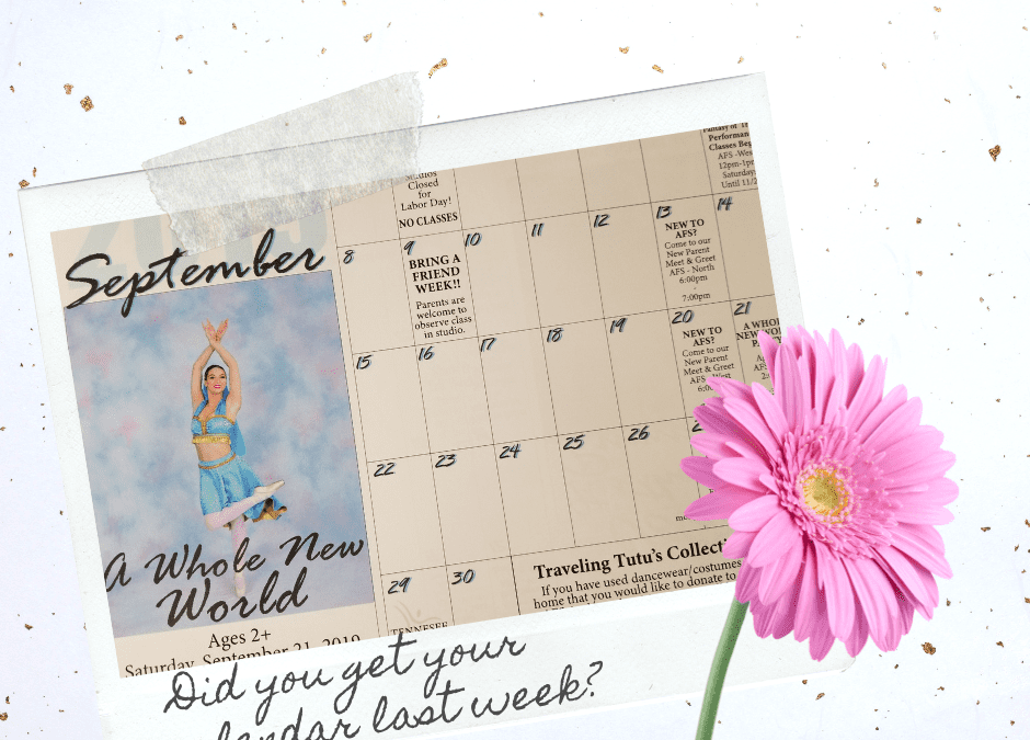Did you get your calendar this week?