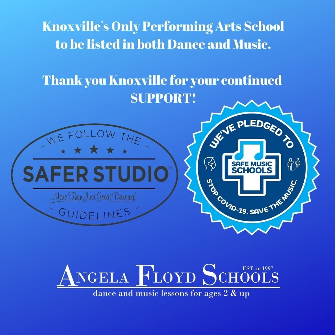 Knoxville's Only Performing Arts School to be listed in both Dance and Music. Thank you Knoxville for your continued SUPPORT!