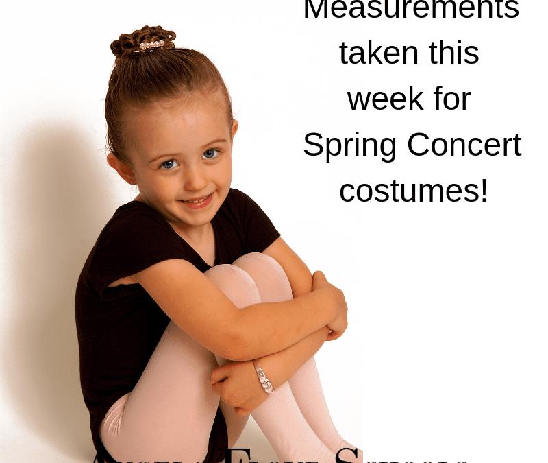 Costume Measurements This Week!