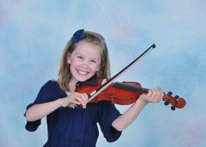 Portrait of violin player
