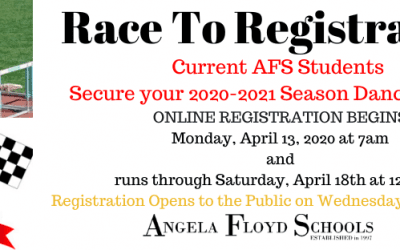 Race to Registration for the 2020-2021 Dance Season
