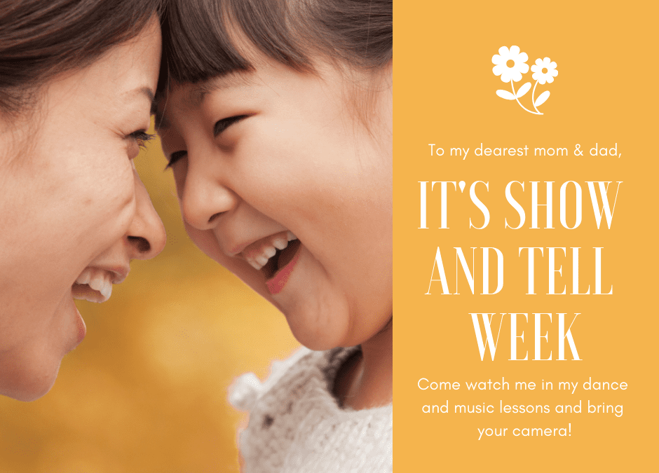 Show and Tell Week