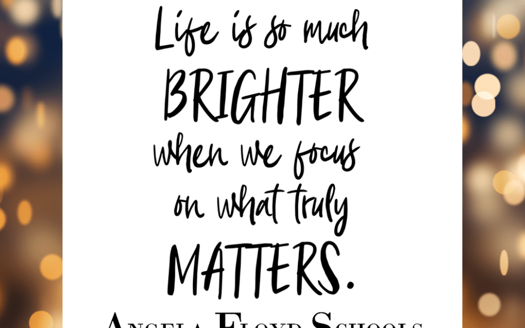 What really matters to you today?