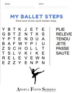 Ballet Word Search