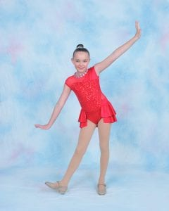 Young dancer in red