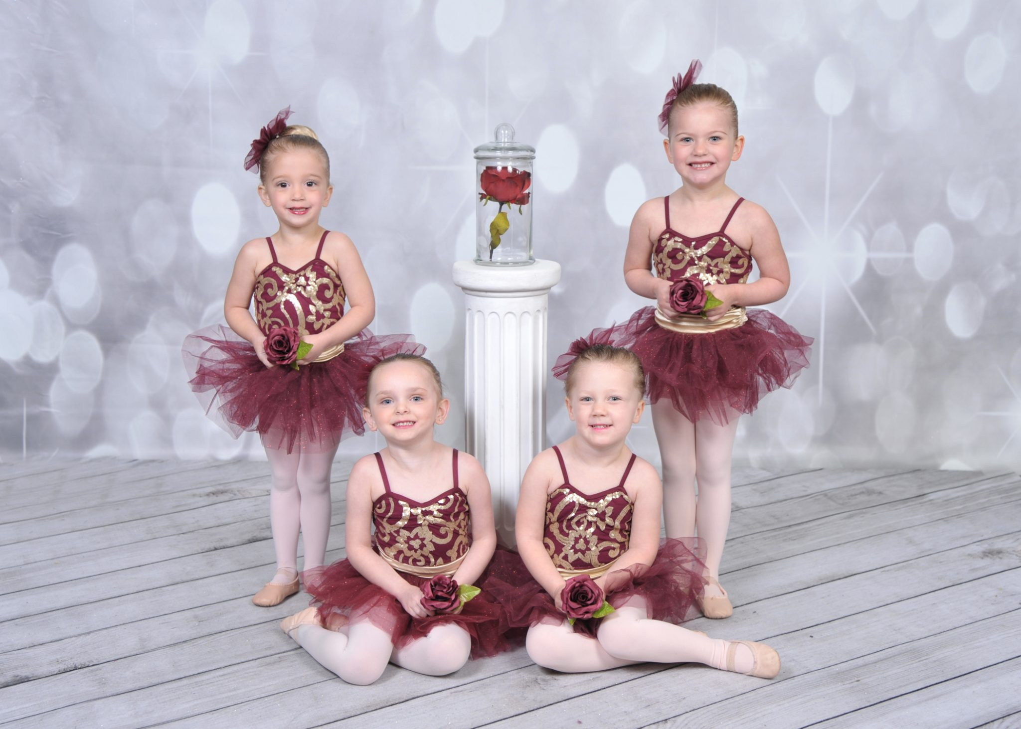 Ballerinas with roses