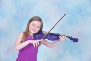Portrait of violin player 4