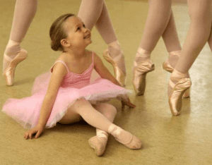 little ballerina with pointe girls